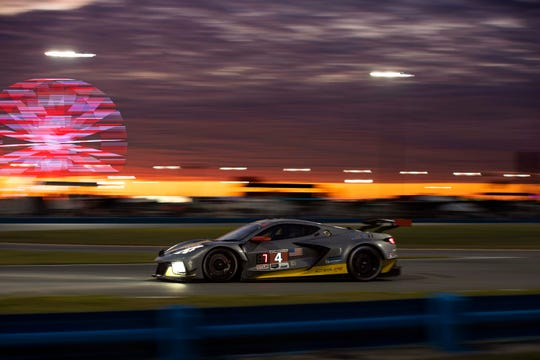 The CorvetteC8.R #4 driven by Oliver Gavin, Tommy Milner, and Marcel Fässler was delayed 8 hours by an oil leak at the Rolex 24 Hours of Daytona.