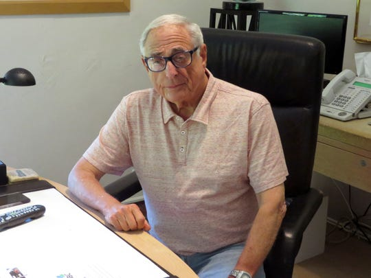In this Aug. 10, 2015, file photo, former NBC President Fred Silverman poses in his office in Los Angeles. Silverman, who steered programming for each of the Big Three broadcast networks, died Jan. 30, 2020, at his Los Angeles area home. He was 82.