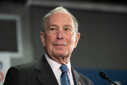 Democratic presidential candidate former New York City Mayor Michael Bloomberg speaks during a campaign event, Monday, Jan. 27, 2020, in Burlington, Vt.