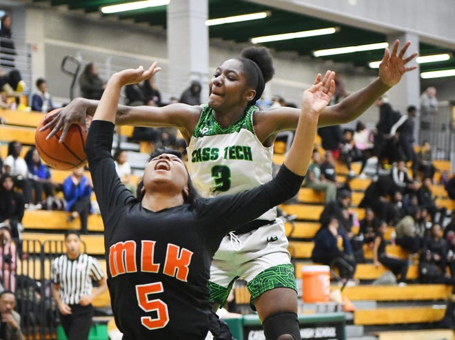 Cass Tech's Desiree Jackson, here playing against Detroit King Jan. 30, had 14 points in Monday's PSL semifinal win.