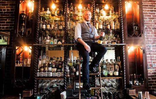 Derek Van Dusen is a a bartender at The 86 Room at the Patio de Leon in downtown Fort Myers. The 86 Room specializes in Prohibition Era cocktails.