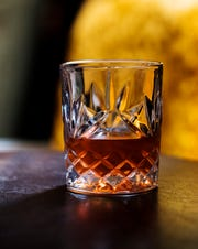 A Sazerac made by the bartenders at The 86 Room, a modern-day speakeasy in downtown Fort Myers.