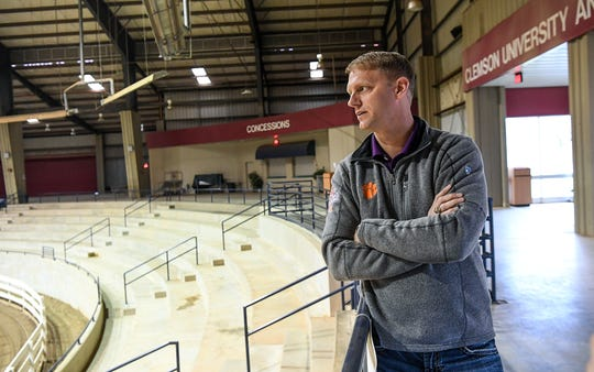 Clemson University T Ed Garrison Arena director Chris Heintze is preparing for growth at the arena site outside Pendleton.