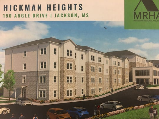 This schematic shows a 100-unit affordable living complex that is being constructed in south Jackson.
