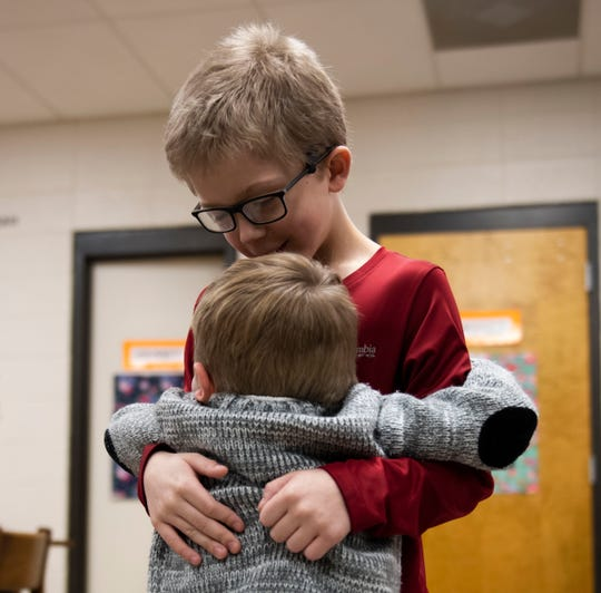 Timothy Prather, 9, saved his cousin Conner Harmon, 3, from choking on a lifesaver hard candy by giving him the Heimlich.