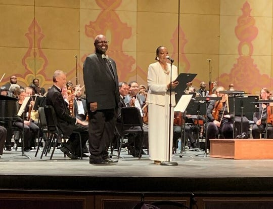 Teacher, singer, humanitarian Michael Rodgers receives the 2020 MLK Commemorative Commission's Arts Award on January 19, 2020.