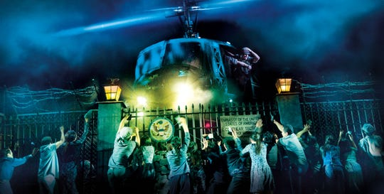 """The helicopter lands in """"The Nightmare"""" in Miss Saigon"""