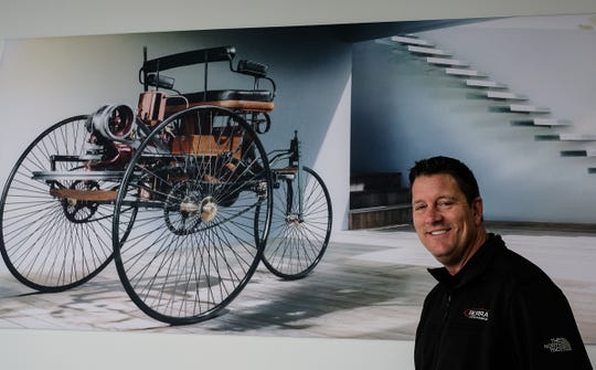 General Manager of the Serra Auto Campus dealership Scott McDaniel, in Okemos is all smiles and is very pleased with the new location Friday, Jan. 31, 2020.