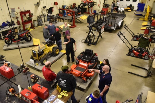 The public met with instructors at Pioneer Career & Technology Center during an open house Thursday night.
