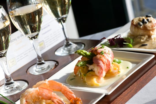 A seafood flight at Flight Restaurant and Wine Bar in downtown Memphis.