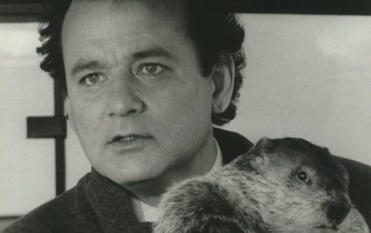 """Bill Murray stars in the romantic comedy """"Groundhog Day,"""" a Columbia Pictures Release."""