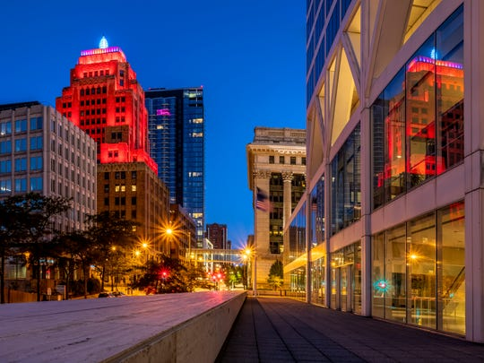 A vibrant scene along Wisconsin Avenue is among the photos sold by Kristine Hinrichs on her website and at galleries and shows.