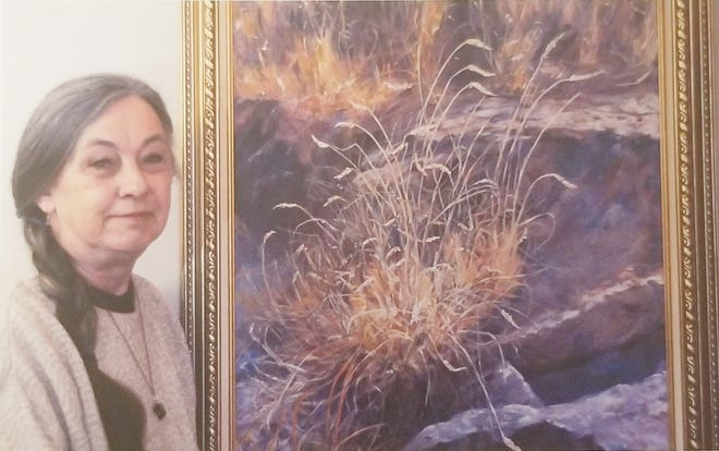 Evelyn Giannatto of Flippin is the current featured artist at the ASUMH Gallery.