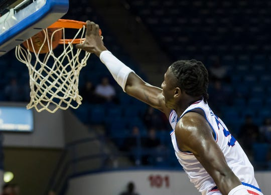 Louisiana Tech's Andrew Gordon (33) dunks during the conference game against Charlotte at the Thomas Assembly Center in Ruston, La. on Jan. 30.