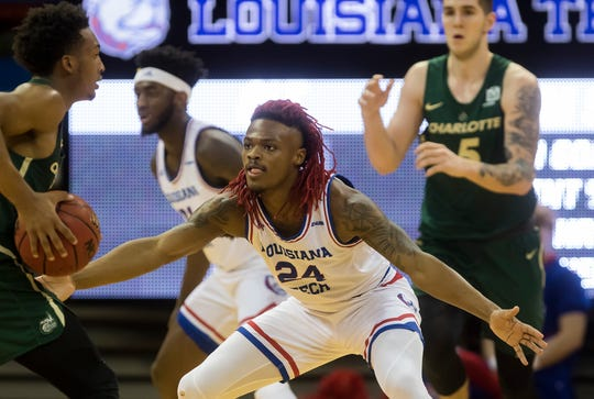 Louisiana Tech defeated Charlotte 72-59 at the Thomas Assembly Center in Ruston, La. on Jan. 30.