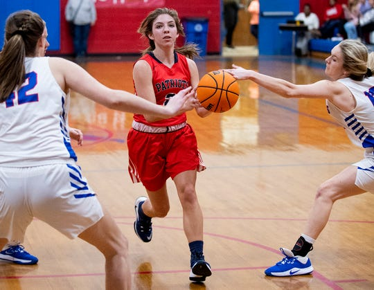 Pike's Shelby Renfroe (2) against Macon East on the Macon East campus in Cecil, Ala., on Thursday January 30, 2020.