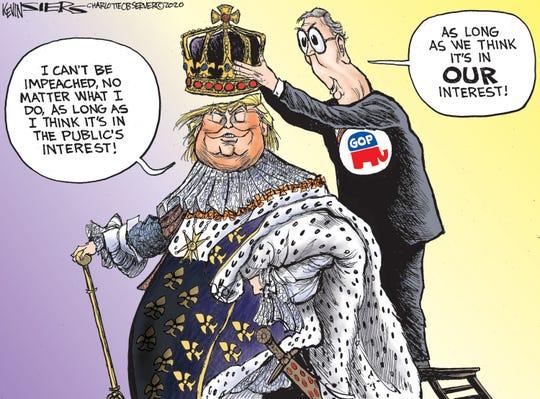 "Trump acting ""in the public's interest."""