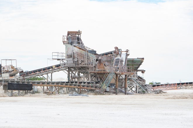 Mining equipment is pictured on Bg Mine LLC facility on, Friday, Jan. 30, 2020 in Bonita Springs.