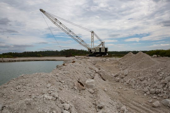A dragline excavator is pictured on the Bg Mine LLC facility   on Friday, Jan. 30, 2020 in Bonita Springs.