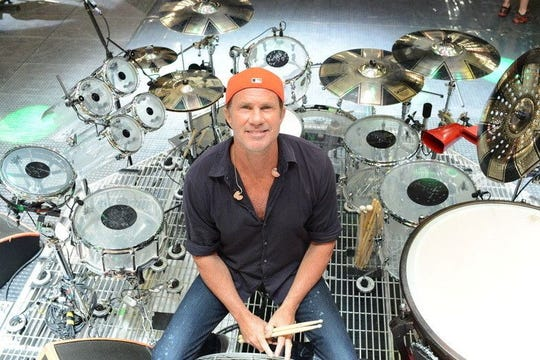 Red Hot Chili Peppers drummer Chad Smith will show and sell his art on the second stop of his North American fine art tour. The exhibit takes place Feb. 6-9 at The Mercato.