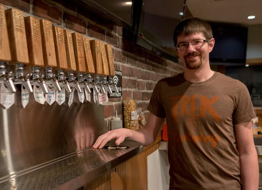 John Ream, the brewery operations & owner of TREK Brewing in Newark.