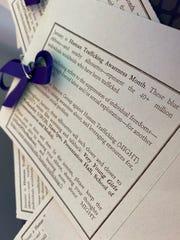 Human Trafficking Awareness Month at Montclair State University.