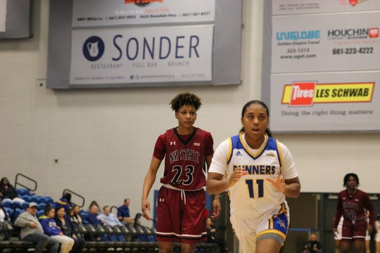 The New Mexico State women's basketball team lost a WAC game on road on Thursday at Bakersfield.