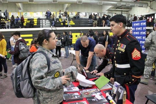 Alamogordo High School held its 11th annual Career Expo at the Lawrence E. Johnson Tiger Pit Jan. 31. some of the vendors were from the U.S. military such as the Navy and Marines.