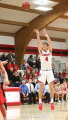 Lourdes Academy junior basketball player Preston Ruedinger was born in March 2003, mere weeks before Michael Jordan played his final NBA game.