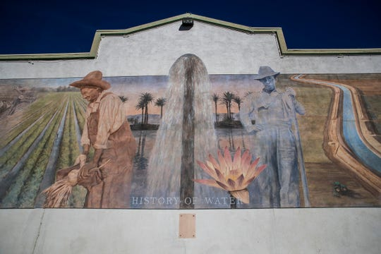 Indio in Downtown has many murals including this one near Bliss street.
