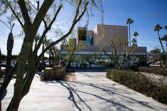 The College of the Desert campus is off of Oasis Street and is one of the newly constructed structures in the downtown area of Indio.