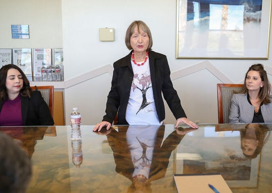 Anna Nevenic speaks with The Desert Sun editorial board in Palm Springs, January 31, 2020.