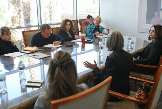 California State Assembly candidates speak with The Desert Sun editorial board in Palm Springs, January 31, 2020.