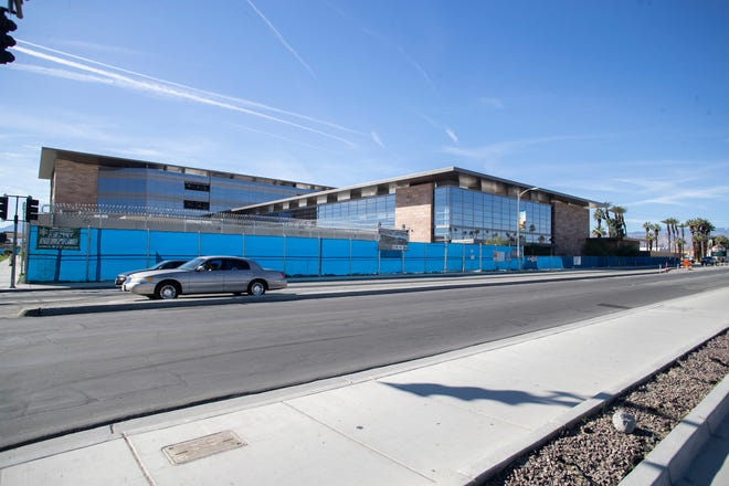 The newly built Riverside County Jail is on Highway 111 in the downtown area of Indio.