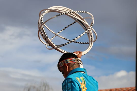 Dancers are judged on how they use their hoops and the formations they make with them.