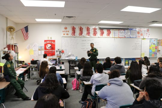 Border Patrol agents regularly address students at San Luis High School to talk about the risks with smuggling and using fentanyl, as  the number of teens  caught  this drug is on the rise, according to Border Patrol officials.