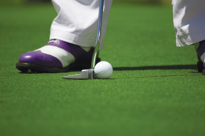 Golf ball stock image.
