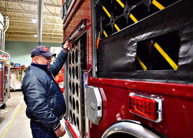 City of York Department of Fire and Rescue dedicates a Service 99-1 2019 Freightliner, purchased by the York City Volunteer Fireman's Relief Association, at Station 99-2 in York City, Thursday, Jan. 30, 2020. Dawn J. Sagert photo