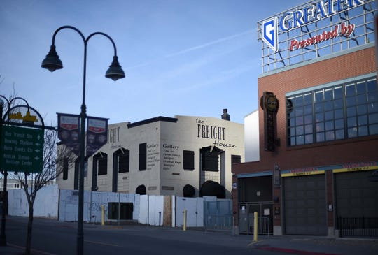 The Freight House building in downtown Reno on Jan. 30, 2020.