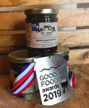 Different varieties of Mike and Laura Ellis' fruit spreads, made with fruit from their farm in Molalla, have won Good Food Awards every year since 2016.