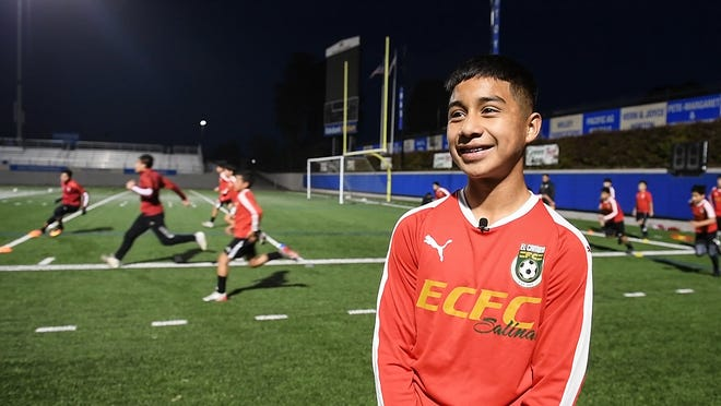 Center attacking midfielder Jose Vasquez is a standout player on the country's best 2006 boys' team: the ECFC's Real Madrid team. Jan. 29, 2020.