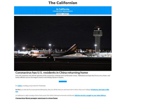 """The """"In California"""" newsletter provides a spotlight on all things Golden State."""