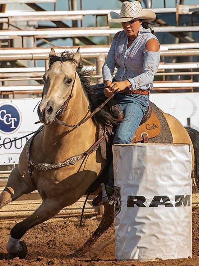 San Angelo Barrel Racer Preslie Reid To