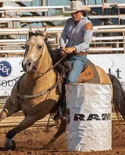 San Angelo barrel racer Preslie Reid will compete in the San Angelo Stock Show & Rodeo for the first time in Saturday's matinee session at the Foster Communications Coliseum.