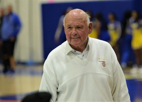 Wicomico head coach Butch Waller looks to the scorer's table on Thursday, Jan. 30, 2020.