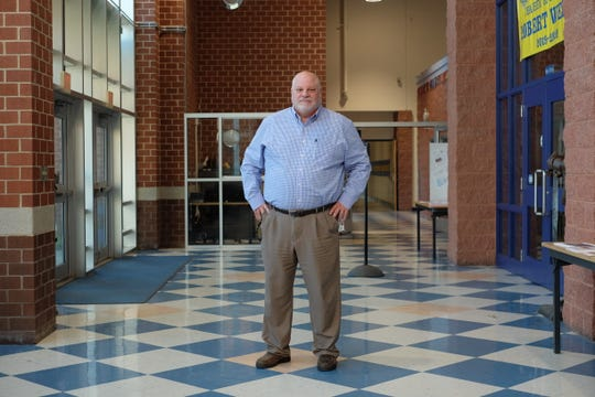 Superintendent Mark Steele stands inside Sussex Central High School, the most overcrowded building in Indian River School District, on Friday, Jan. 17, 2020.