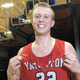 Yankton junior forward Matthew Mors poses for a photo following the Bucks' win over Roosevelt on Jan. 30, 2020