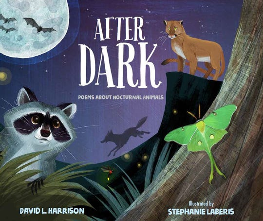 "Springfield children's author and poet David Harrison will see his 97th book, ""After Dark, Poems About Nocturnal Animals,"" published Feb. 25, 2020."