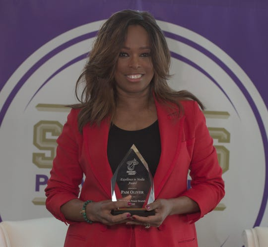 FAMU alum Pam Oliver received the Excellence in Media award at the 2nd Annual Sports Power Brunch on Wednesday, Jan. 29