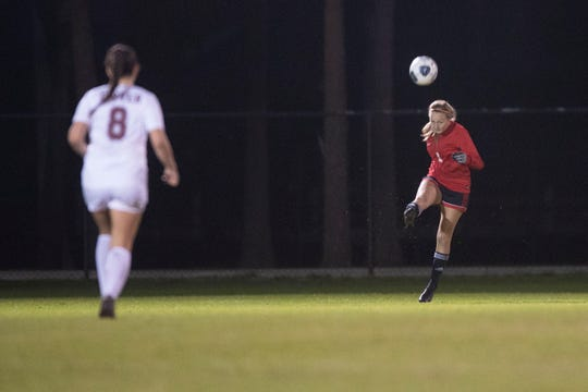 Vero Beach High School faces Dwyer High in the District 9-7A girls soccer championship Thursday, Jan. 30, 2020, at South County Regional Stadium in Port St. Lucie. Vero Beach won 4-2.